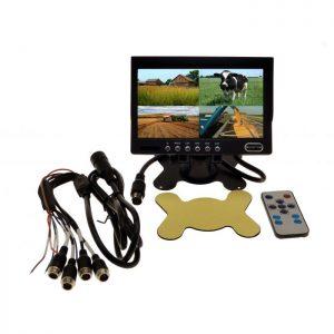 "Camera Source 7"" Quad Screen + 2 CCD Cameras - Agriculture Camera System"