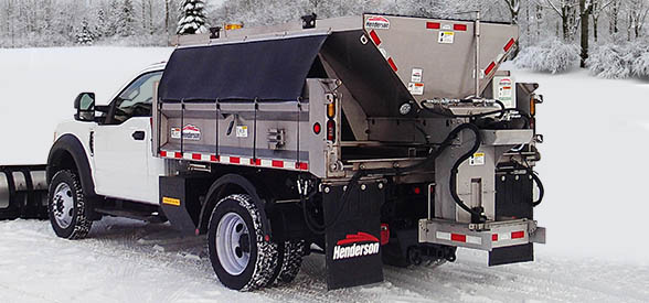 Henderson FSM-A heavy-duty salt & sand spreader